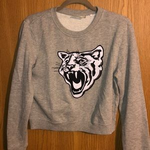 LA Hearts Cropped Sweater